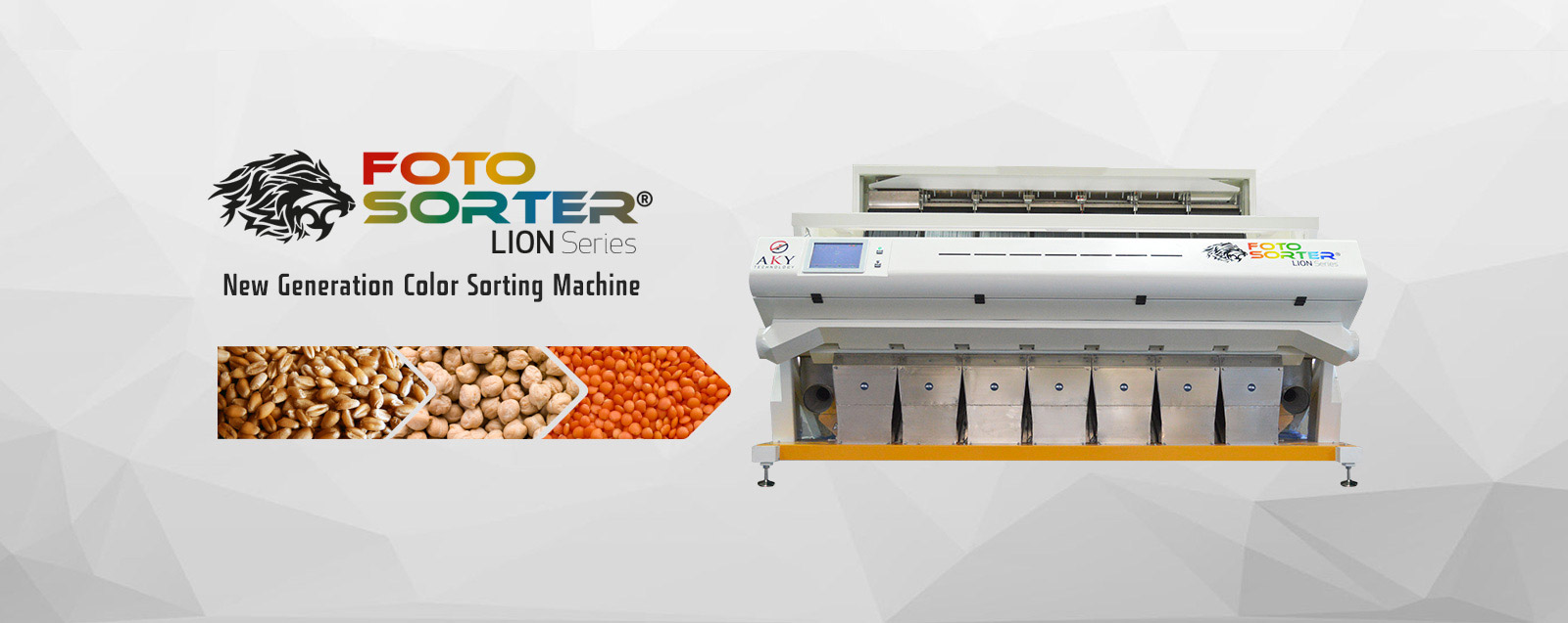 Meet AKY Technology's Fotosorter Lion Series Optical Color Sorting Machine