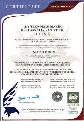 Aky Technology ISO 9001
